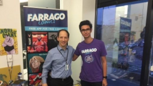 Max with Farrago Comics CEO, Marty Fleischmann.